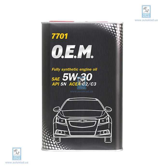 Масло моторное 5W-30 OEM Chevrolet Opel 7701 Metal 1л MANNOL MN60711: цена