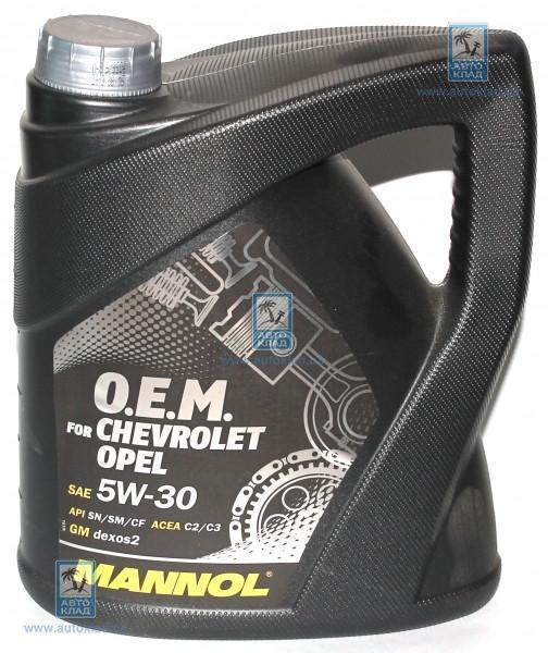 Масло моторное 5W-30 7701 OEM GM 4л MANNOL MN60741: заказать