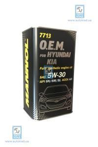 Масло моторное 5W-30 7713 OEM Hyundai/Kia 4л MANNOL MN6084AMETAL: продажа