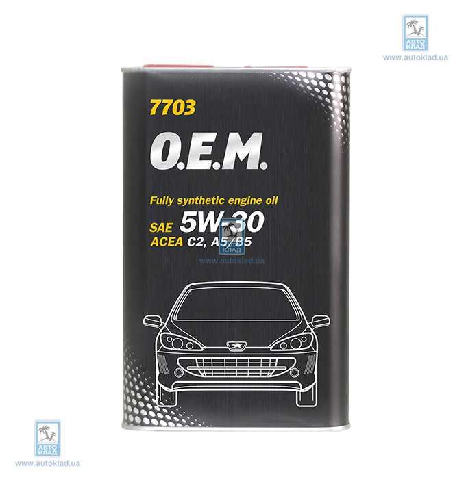 Масло моторное 5W-30 OEM Peugeot Citroen 7703 Metal 1л MANNOL MN6091A1