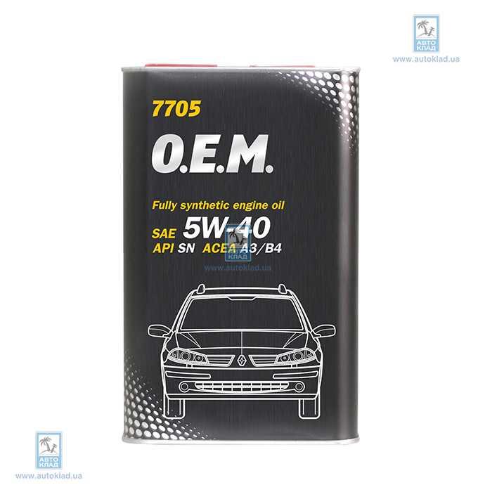 Масло моторное 5W-40 7705 OEM Renault/Nissan Metal 1л MANNOL MN63211