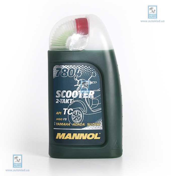 Масло для 2Т двигателей 7804 Scooter Metal 1л MANNOL MN7804METAL