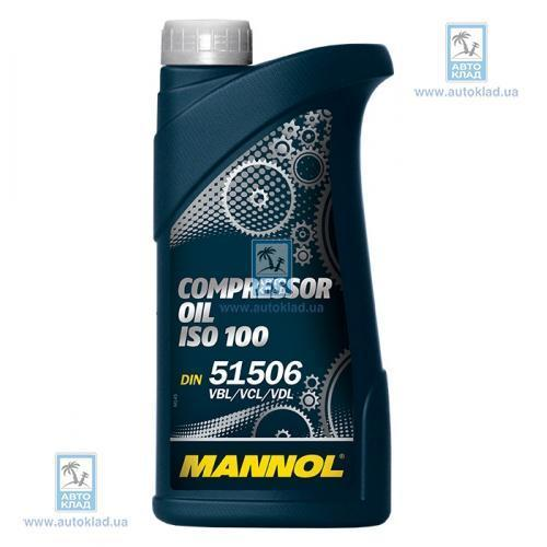 Масло компрессорное Compressor Oil ISO 100 1л MANNOL MNISO1001L: описание