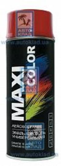 Краска спрей универсальная карминно-красный 400мл MAXI COLOR MX3002: описание