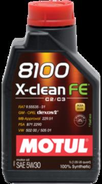 Масло моторное 5W-30 8100 X-Clean FE 1л MOTUL 104775