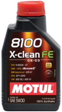 Масло моторное 5W-30 8100 X-Clean FE 4л MOTUL 104776: описание