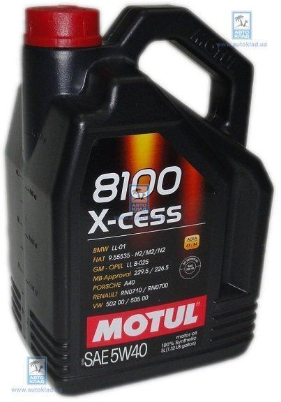 Масло моторное 5W-40 8100 X-Cess 5л MOTUL 368206: заказать