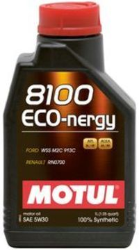 Масло моторное 5W-30 8100 Eco-Nergy 4л MOTUL 812307: описание