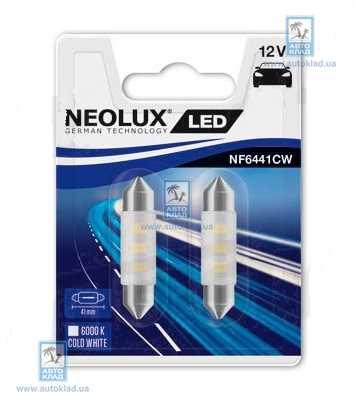 Автолампа LED Interior C5W L=41мм комплект 2шт NEOLUX NF6441CW02B
