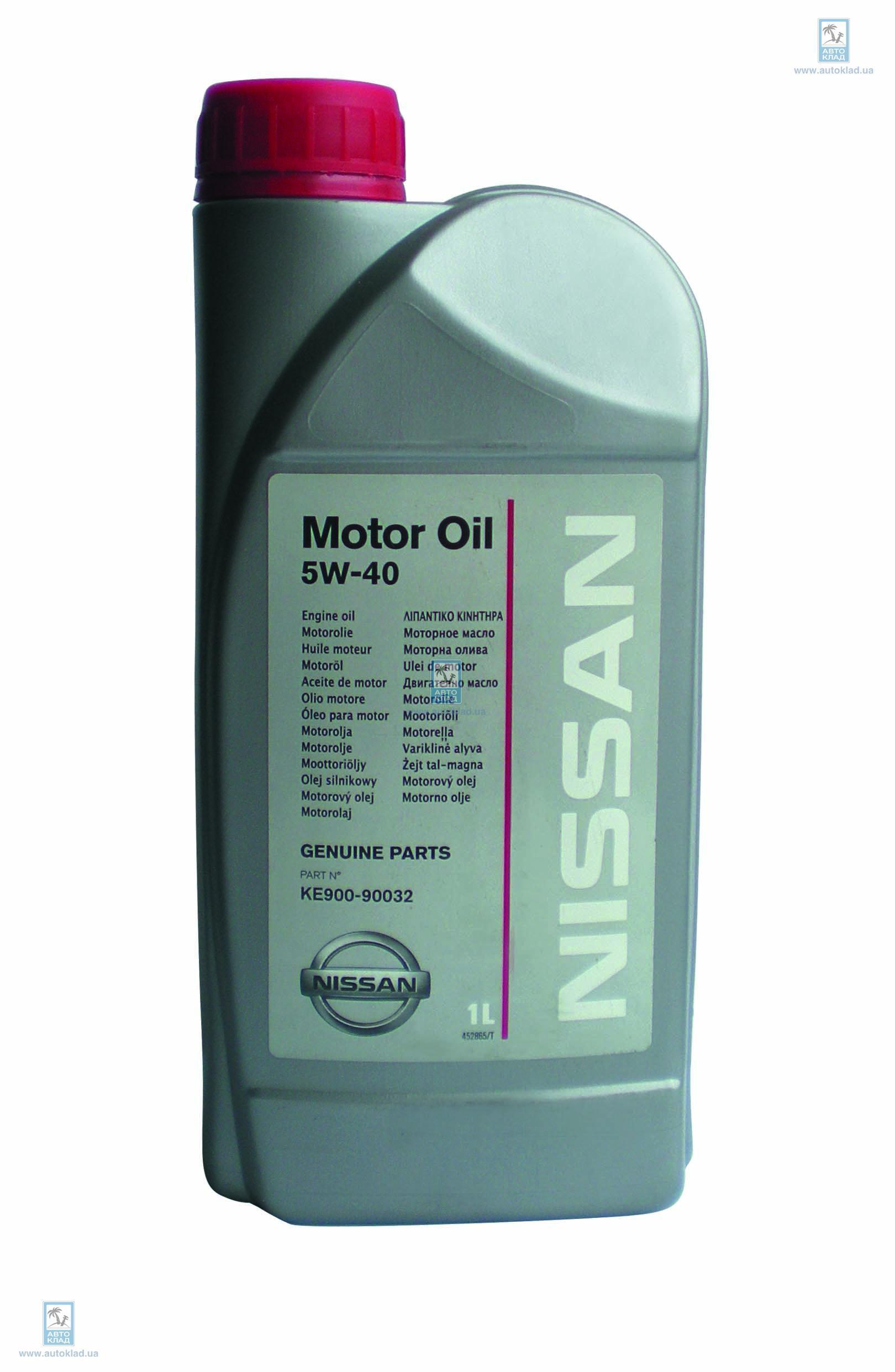 Масло моторное 5W-40 1л NISSAN KE90090032