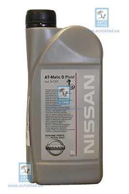 Масло трансмиссионное ATF AutoGear Matic D 1л NISSAN KE90899931
