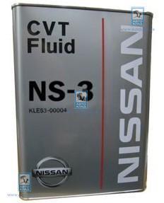 Масло вариаторное CVT NS-3 4л NISSAN KLE5300004: описание