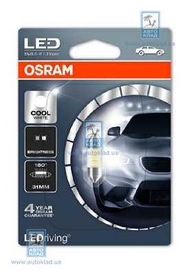 Автолампа LED C5W SV8.5-8 6000K OSRAM 6431CW01B