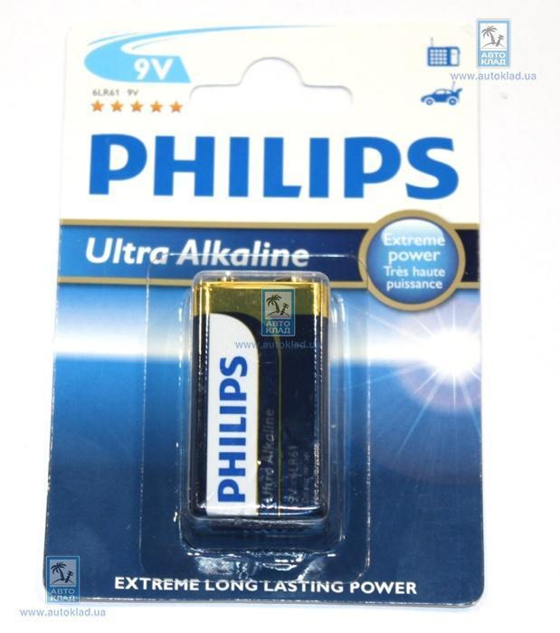 Батарейка щелочная Крона 9В PHILIPS 6LR61E1B10