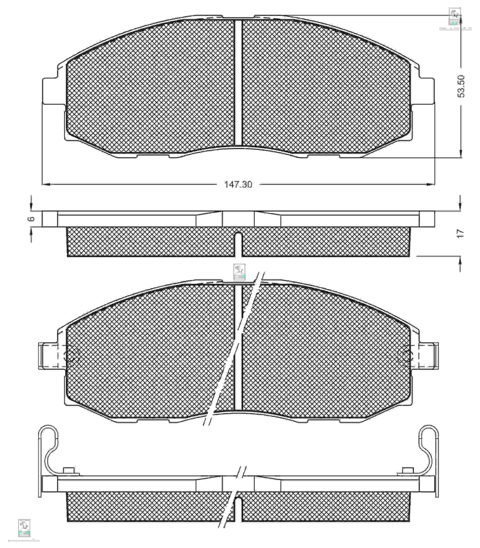 Колодки тормозные PMC PKA-007