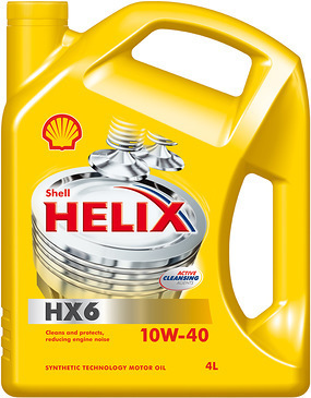 Масло моторное 10W-40 Helix HX6 4л SHELL SHELL00052