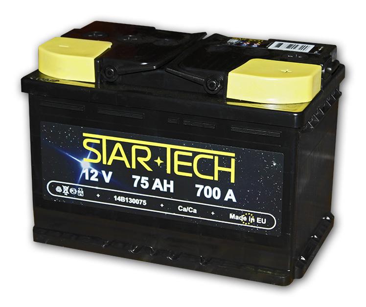 Аккумулятор 75Ач 700А STARTECH 14B130075