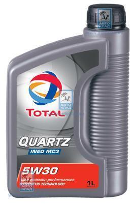 Масло моторное 5W-30 Quartz Ineo MC3 1л TOTAL TOTQUARMC3INEO5W30L1