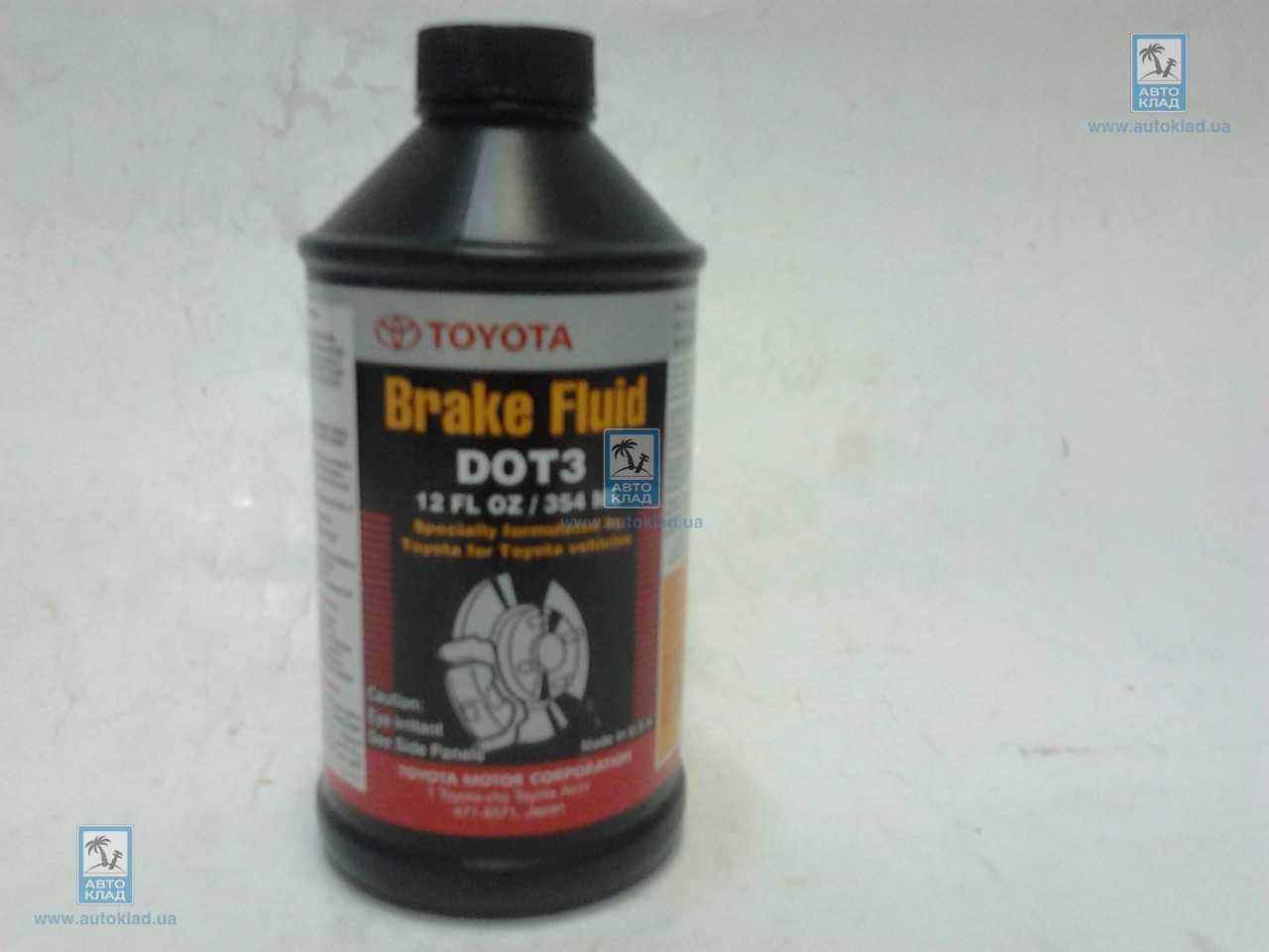 Тормозная жидкость DOT3 330мл TOYOTA 0882380010