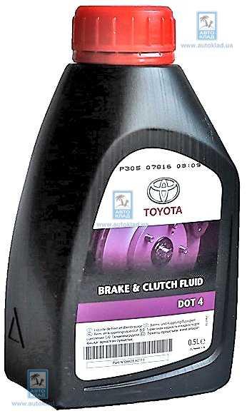 Тормозная жидкость DOT4 500мл TOYOTA 0882380111