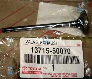 Клапан выпускной TOYOTA 1371550070: заказать