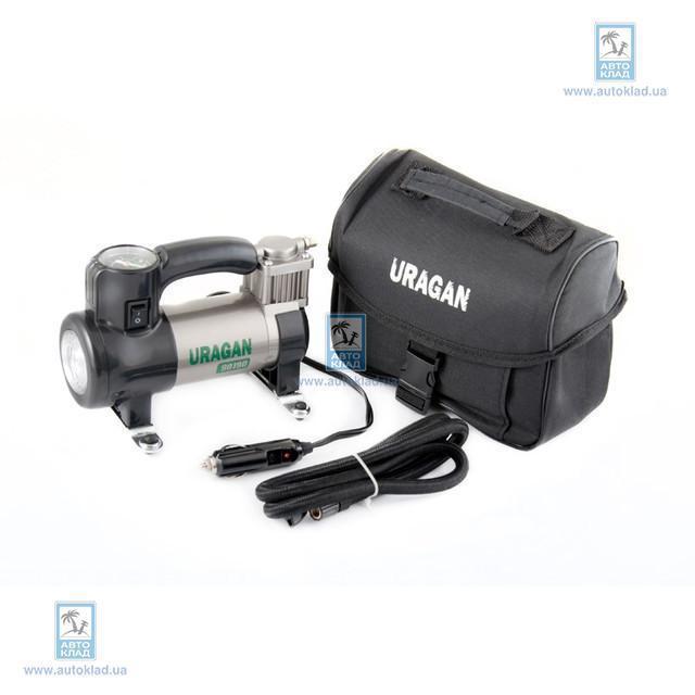 Компрессор автомобильный с LED-фонарем URAGAN 90190