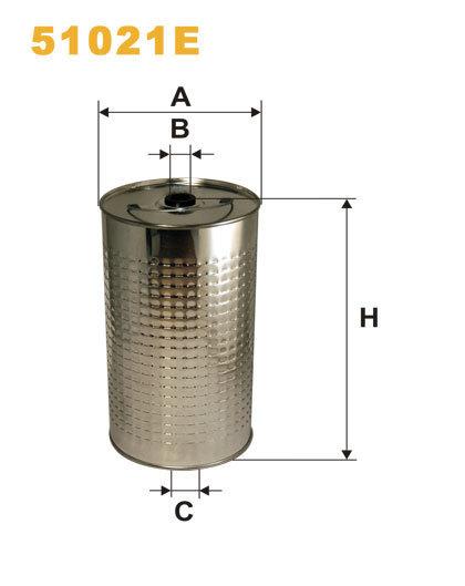 Фильтр масляный WIX 51021E