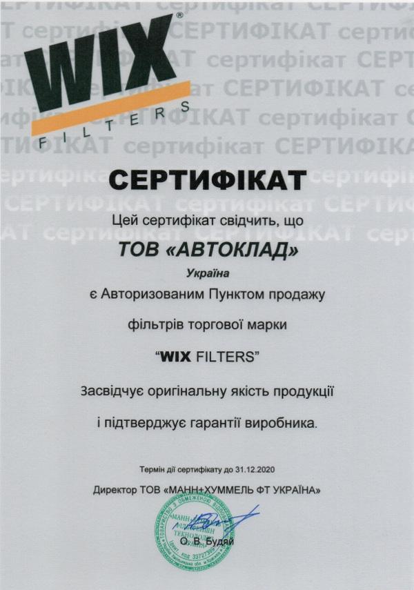 Фильтр воздуха салона WIX WP6812: цена