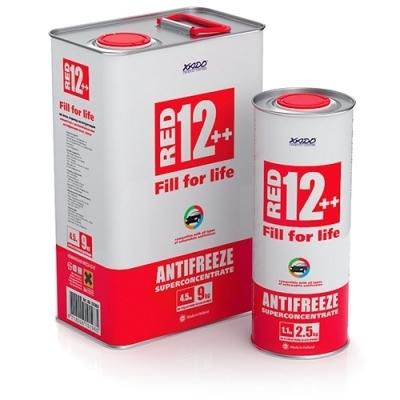 Купить Антифриз G12++ красный суперконцентрат 1.1кг XADO XA50008