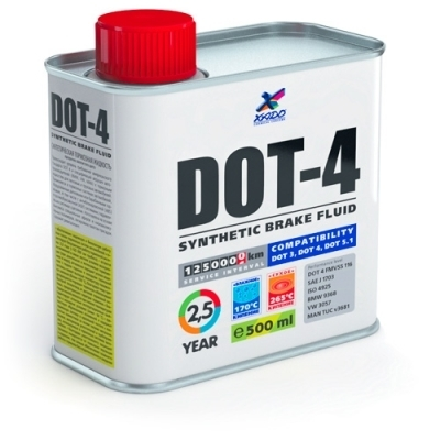 Тормозная жидкость DOT4 350мл XADO XA50303