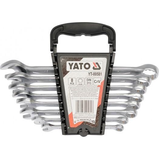 Набор ключей комбинированных 8 предметов YATO YT00581