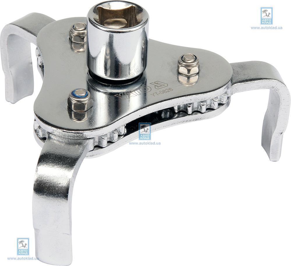 Ключ для снятя масляного фильтра 3 ножки YATO YT0826