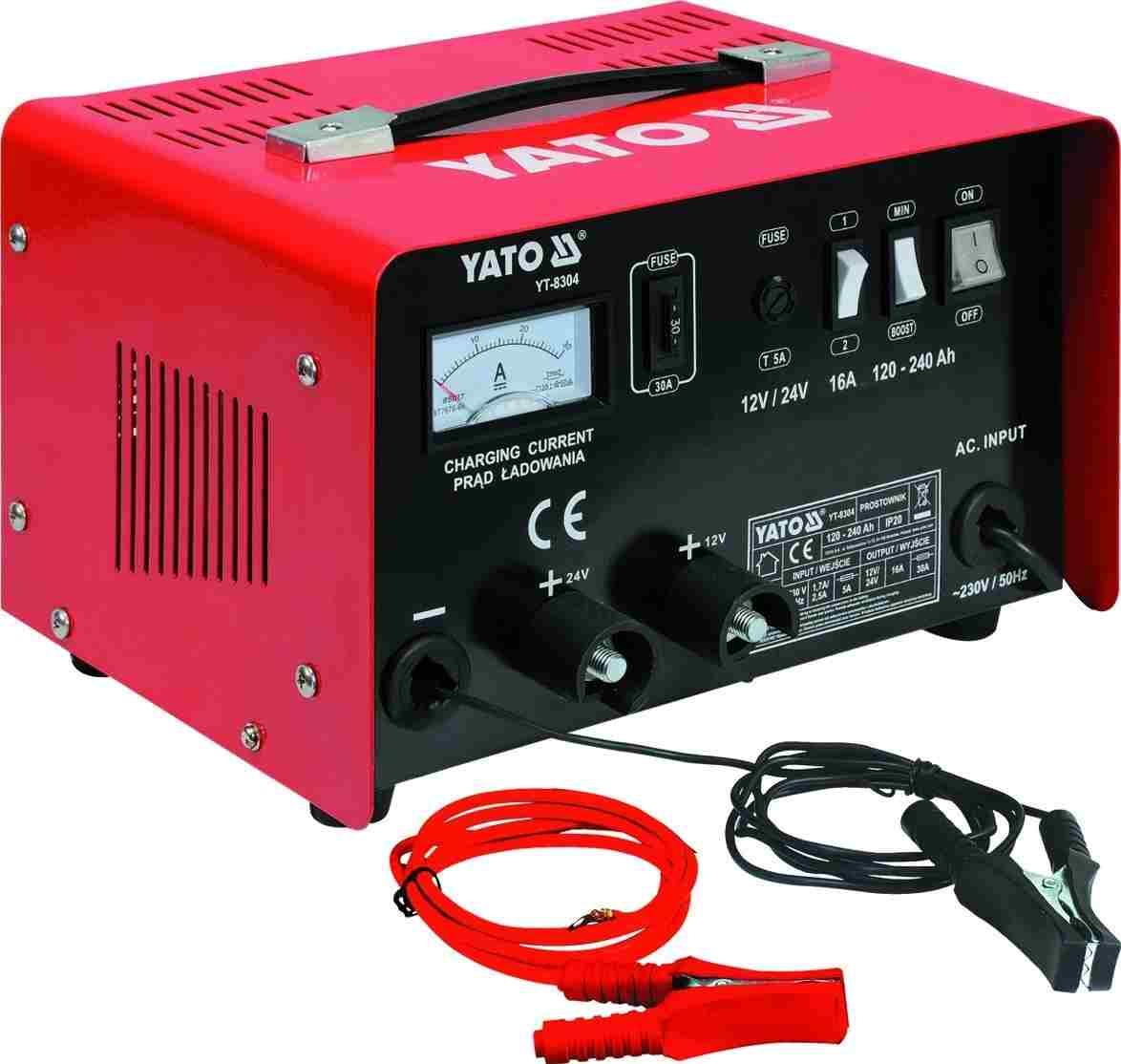 Зарядное устройство 12/24В 16А 240Ач YATO YT8304