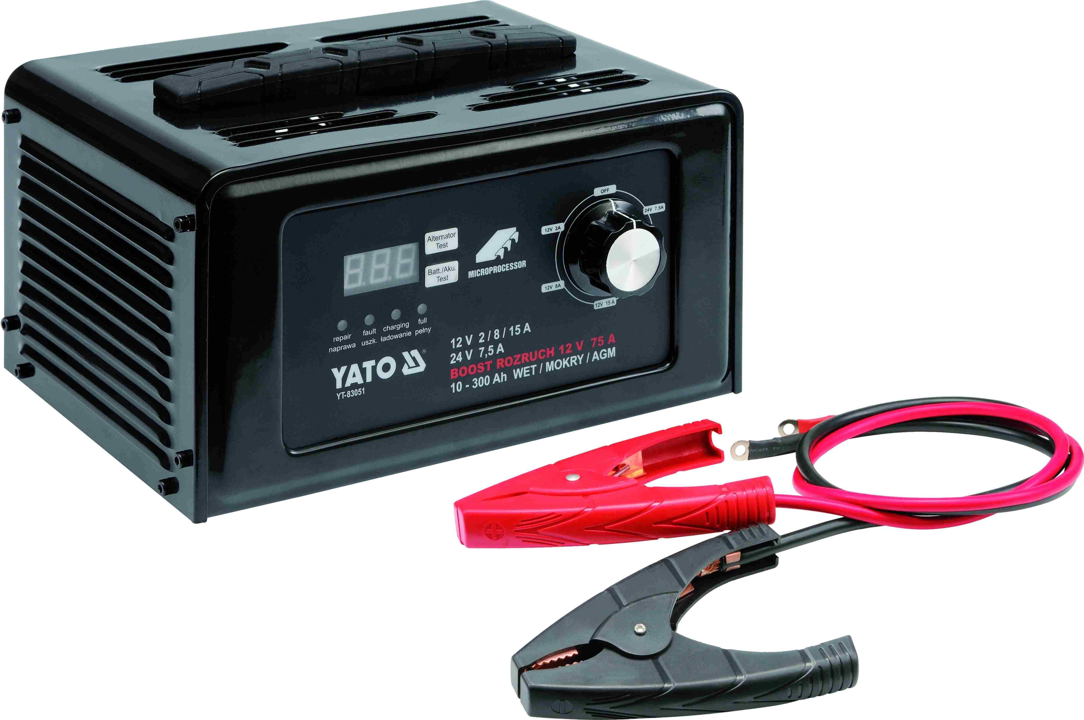 Зарядно-пусковое устройство 12/24В 15А YATO YT83051