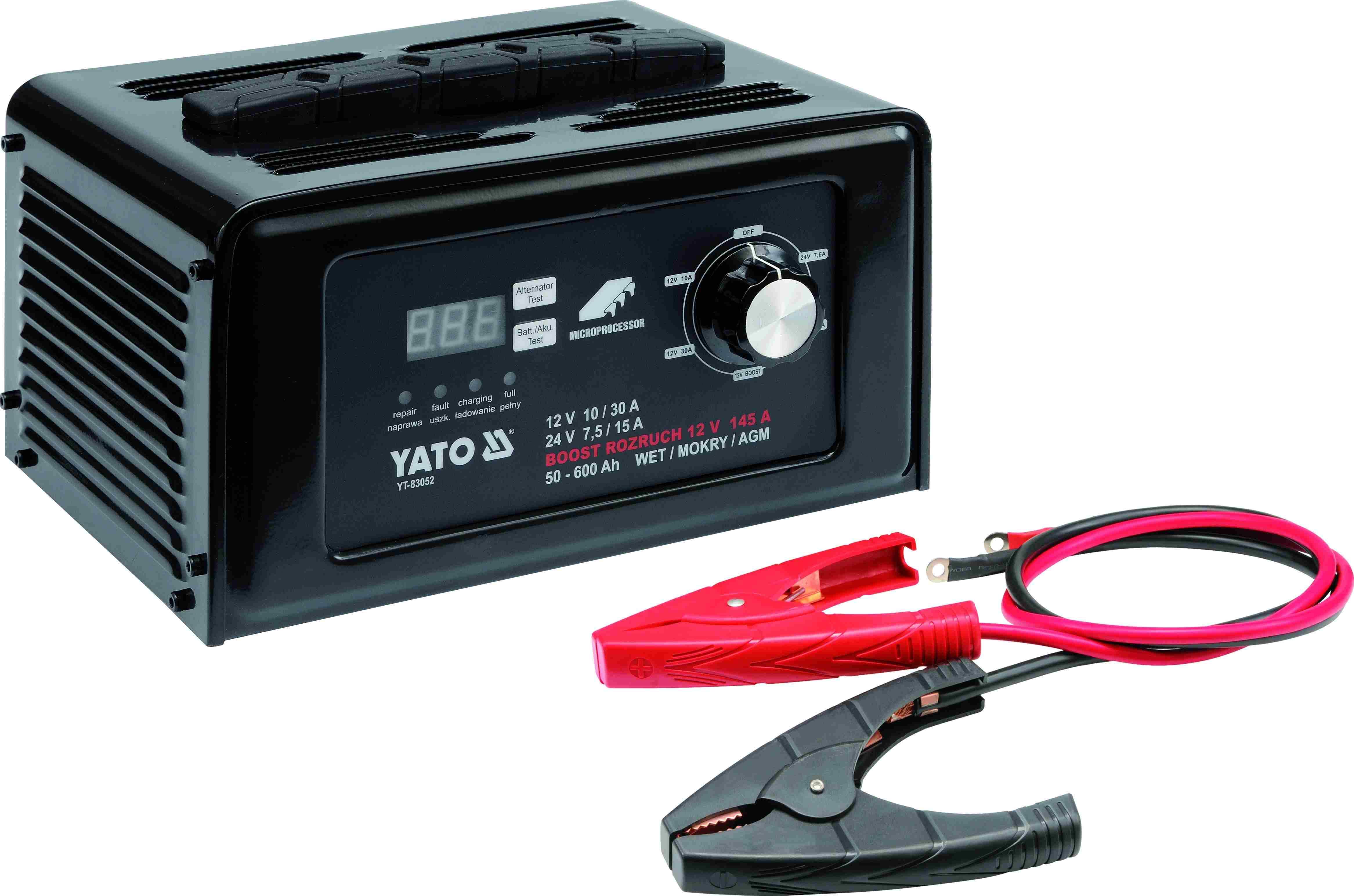 Зарядно-пусковое устройство 12/24В 30А YATO YT83052