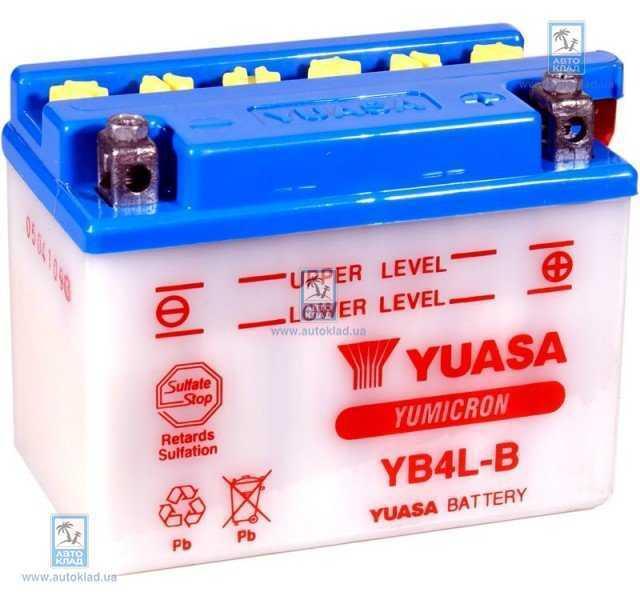 Аккумулятор 4Ач 60А YUASA YB4L-B