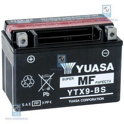 Аккумулятор гелевый 9Ач 135А YUASA YTX9-BS