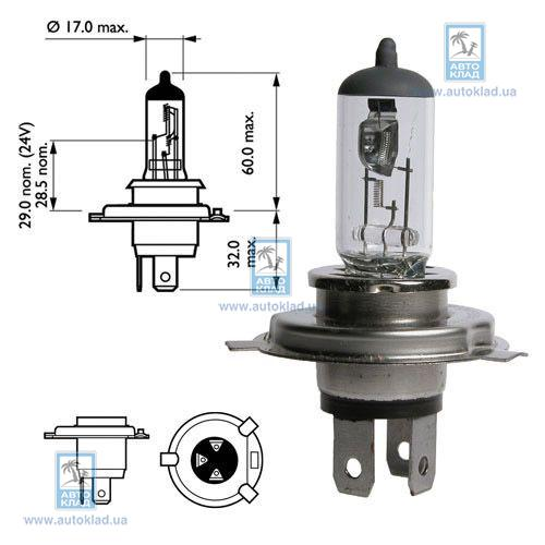 Автолампа H4 Pure Light BOSCH 1 987 302 041