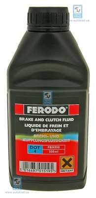 Тормозная жидкость DOT4 250мл FERODO FBX025