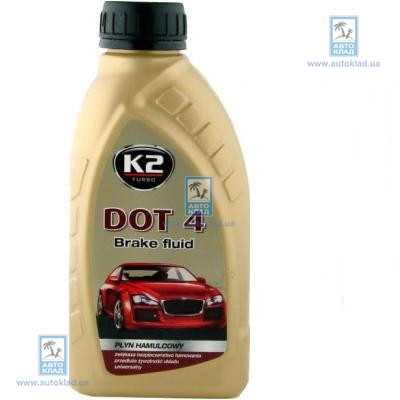 Тормозная жидкость DOT4 500мл K2 T104