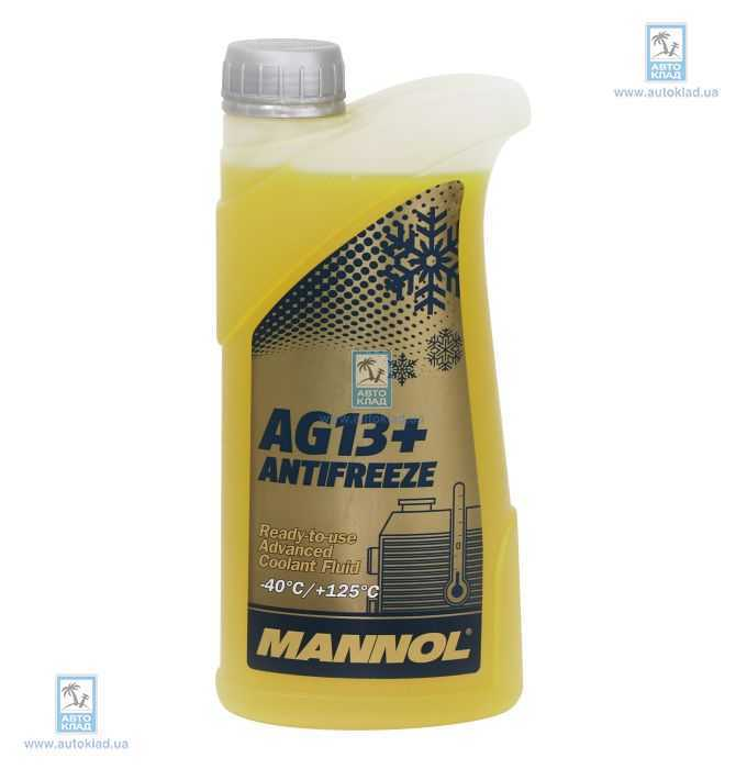 Антифриз G13 желтый Advanced -40°C 1л MANNOL MN55311