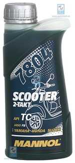 Масло для 2Т двигателей 7804 Scooter 0.5л MANNOL MN78041