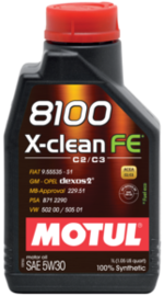 Масло моторное 5W-30 8100 X-Clean FE 4л MOTUL 104776